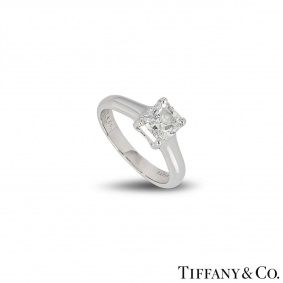 Tiffany & Co. Platinum Diamond Lucida Ring 1.13ct D/VVS2